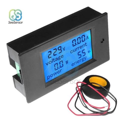 Watímetro Digital Medidor De Consumo De Energia 100ah 4 Em 1