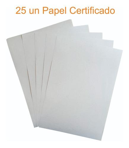 Papel Moeda P/ Certificado Diplomas E Documentos 25 Folhas