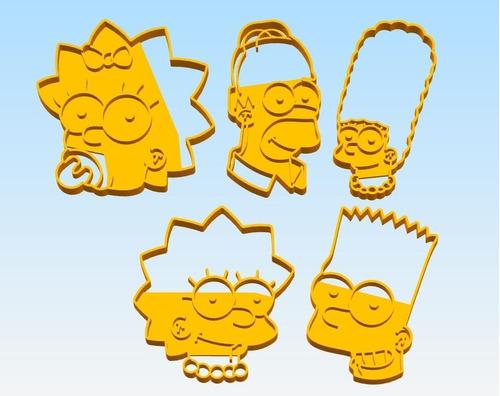 Molde Cortante Galletita Simpsons - Pack 5