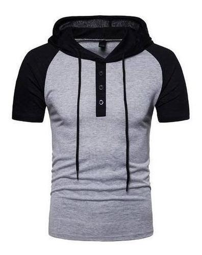 Camisa Polo Masculina Camiseta Raglan Capuz Diverse Estilos
