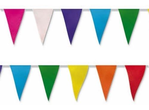 Decoración Banderín Multicolor Plástico 10 M Largo 10 Tiras