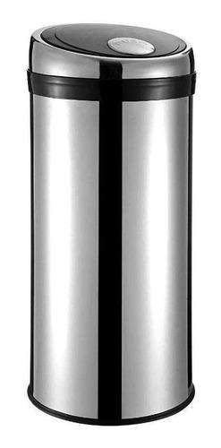 Lixeira Aço Inox Prata Com Botão 20 Litros Ciclop Travel Max