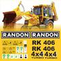 Kit Adesivos Retroescavadeira Randon Rk 406 Etiquetas R493
