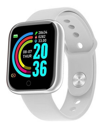 Relógio Smartwatch D20 Prata Ios Android Inteligente