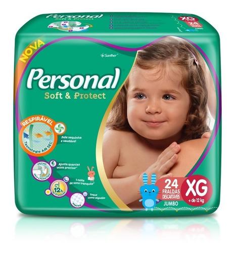 Fralda Personal Soft&protect Jumbo Tamanho Xg 24 Unidades