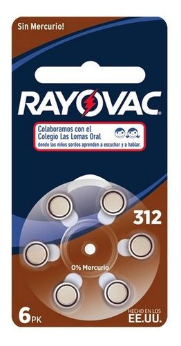 Pilas Para Audifonos Rayovac 13 - Blister X 6 U. - Vto 2023