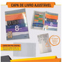 Capa De Livro Didático Ajustável Kit 5 Unidades