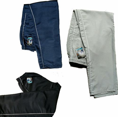 Kit 3 Calcas Tactel Masculina Costuras Reforçadas 3 Bolsos