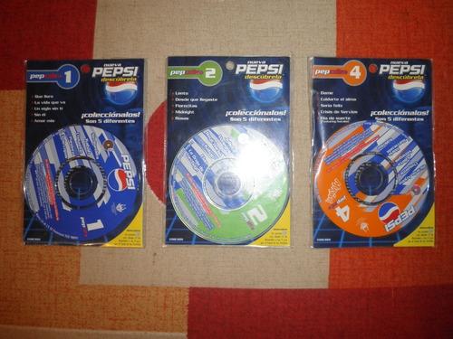 21 Mini Discos De Musica Pepcds (3 Diferentes)