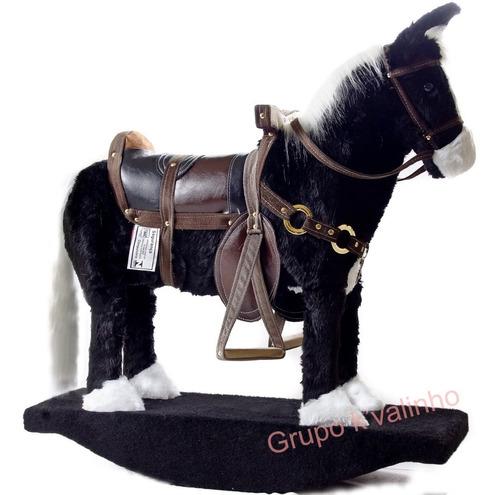 Cavalo Cavalinho De Brinquedo Madeira E Pelúcia Pra Criança