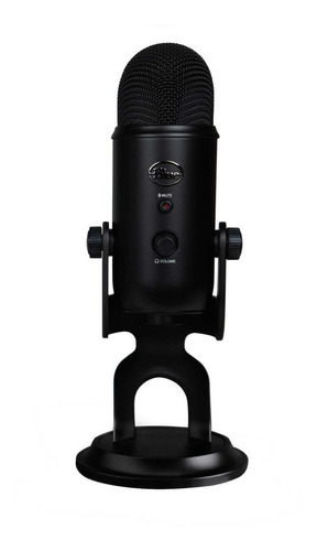 Micrófono Blue Yeti Condensador Multipatrón Blackout