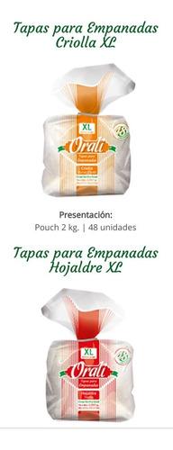 Tapas Para Empanadas Orali Freir, Horno, Criollas Y Hojaldre