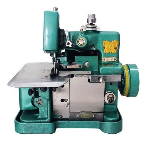 Máquina De Costura Semi Industrial Overlock Butterfly Gn1-6d Portátil Verde 110v