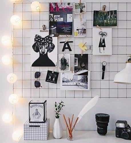 Memory Board Painel Fotos Cordão De Luz Bolas Coloridas