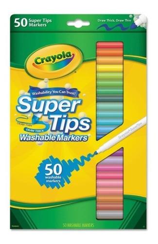 Crayola  Super Trips  Caja De 50 Marcadores Lavables