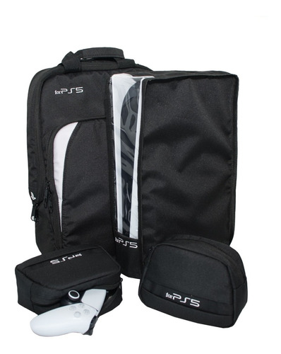 Ps5 Kit 4 Peças Para Ps5 Bolsa capa Console 2 Cases