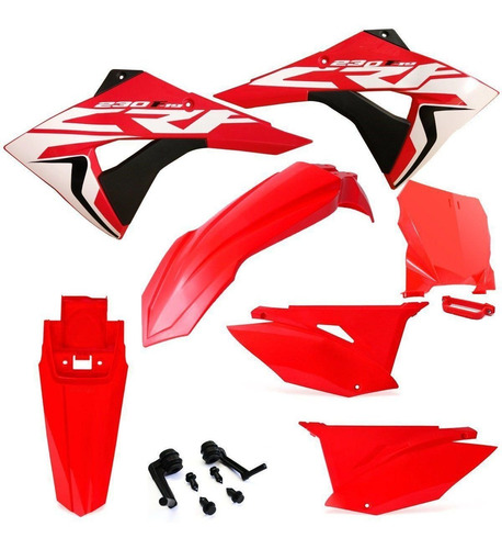 Kit Plástico Biker Roupa Carenagem Crf 230 Adesivo Number