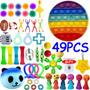 Pop It Fidget Brinquedos Kit Gobang Rainbow Pioneer 49pcs