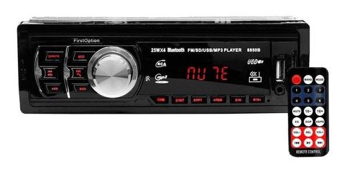 Som Automotivo First Option 8850b Com Usb, Bluetooth E Leitor De Cartão Sd Original