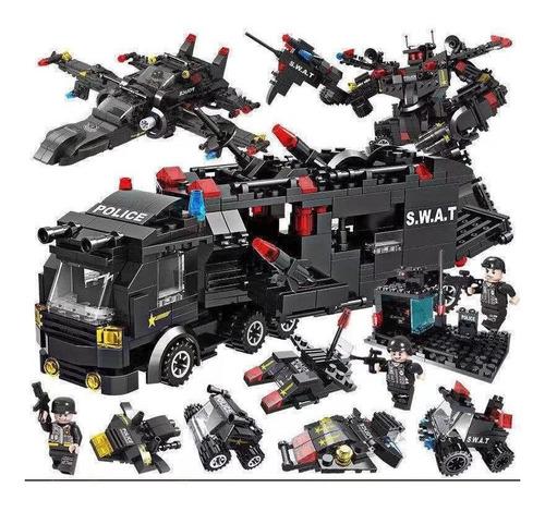 Kit Lego Swat Peças Compatível Brinquedo Montar Coleção