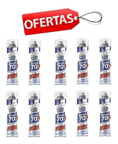 Alcool Aerosol (300ml) Kit 10 Pecas Super Dom Alcool 70 Inpn