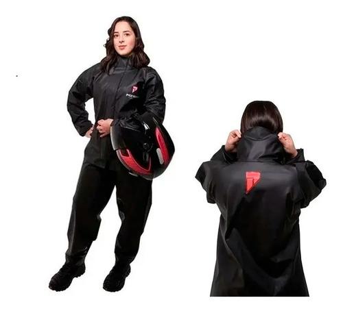 Capa De Chuva Pioneira Feminina Moto Pvc
