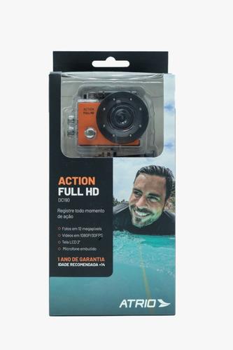 Câmera De Ação Action Mergulho Esportiva Cor Laranja