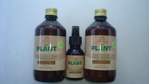 Kit Plant Monovin Hair Shampoo + Máscara + Tônico Capilar