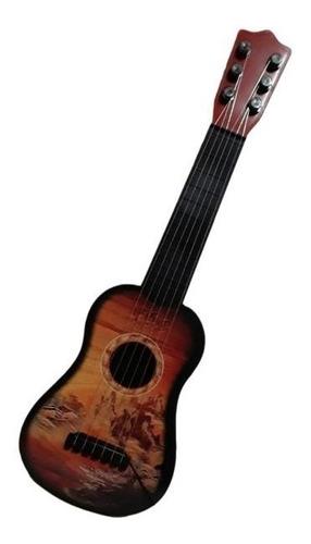 Violão Infantil Ukulele Com 6 Cordas De Aço Musical