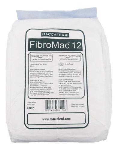 Fibromac 12 Fibra De Polipropileno P Concreto 600 Gr Sibaco