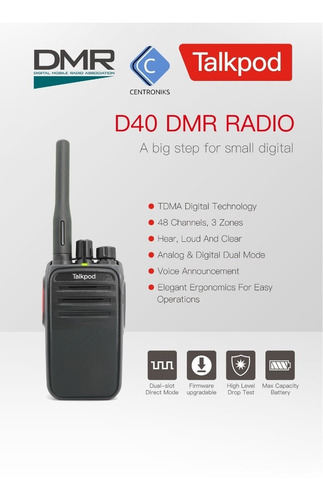 Radios De Comunicación Digitales Dmr Talkpod D40