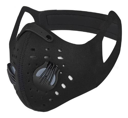 Mascara Tapaboca Moto Deportes Neopreno Spandex Negro Filtro