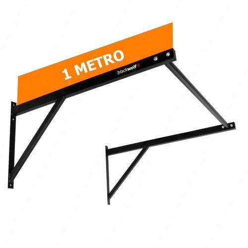Barra Fixa 1 Metro Parede Musculação Muscle Up C/ Parabolts