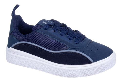 Tenis Unlok Juvenil Azul Marinho Casual
