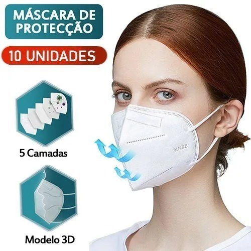 Máscara Respiratoria Proteção Pff2 Kn95 - Original Pronta/e