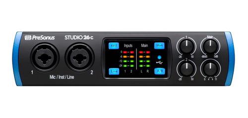Interface De Audio Presonus Studio 26c Homestudio Usb-c Nova