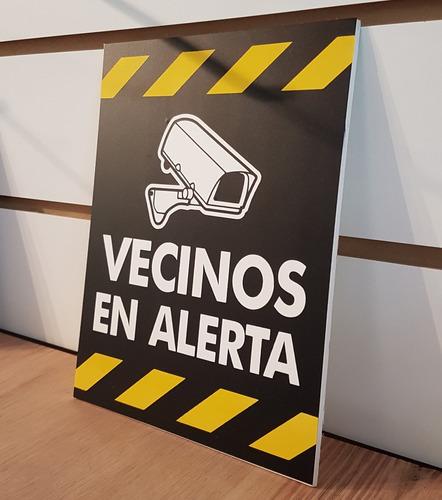 Cartel Cámara Vecinos En Alerta Pvc De 15x20cm / Plottergraf