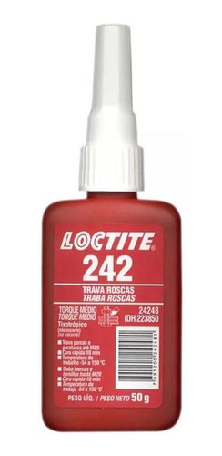 Adesivo Loctite 242 Trava Roscas Médio Torque Azul 50g