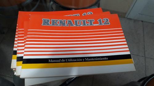 Manual Renault 12 1.600 Tl Nuevo