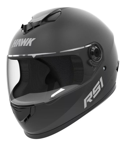 Casco Para Moto Integral Hawk Rs1 Negro Mate Talle L