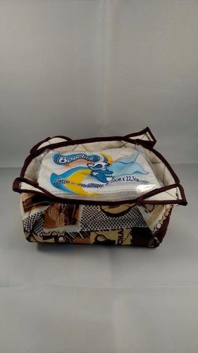 Porta Guardanapo Em Tecido Patchwork 20cm X 22,5cm Original