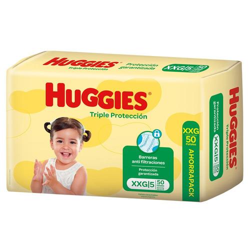 Pañales Huggies Triple Protección Ahorrapack  Xxg 50u
