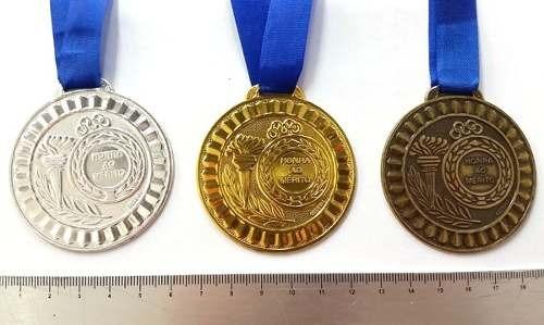 Lote De 3 Medalhas Honra Ao Mérito Grande 5,5 Cm