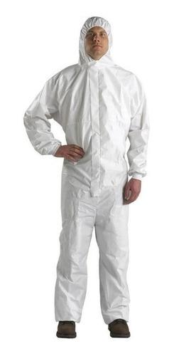 Macacão Tyvek Tnt Branco Laminado Proteção Riscos Quimicos