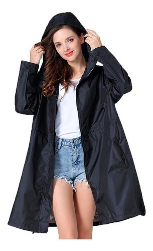 Capa Chuva Poncho Feminino Corta Vento Impermeável Vestido