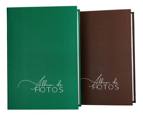 Album De Fotos Para 500 Fotos 10x15 Verde Marrom Azul Preto