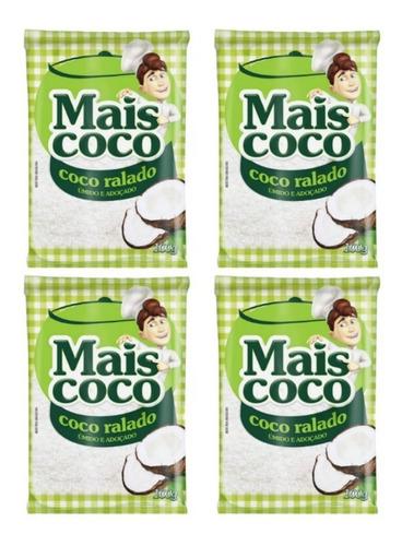 Kit Coco Ralado Mais Coco 100g - 4 Unidades