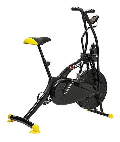 Bicicleta Spinning Air Bike Kikos A5 - Cor Preto/amarelo