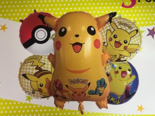 Set De Globos Pokemon Pikachu