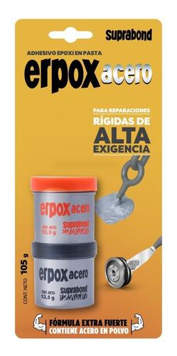 Adhesivo Epoxi Suprabond Erpox Acero Máxima Soldadura 105gr